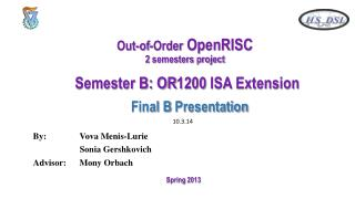 Out-of-Order  OpenRISC 2 semesters project