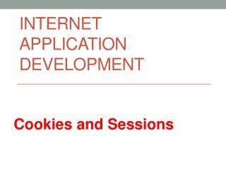 Internet application  developmenT