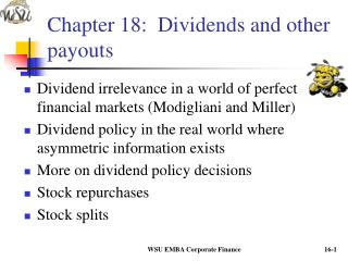Chapter 18:  Dividends and other payouts