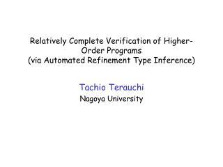 Tachio  Terauchi Nagoya University