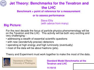 Standard Model Benchmarks at the Tevatron and LHC 11/19/10