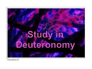 Study in Deuteronomy