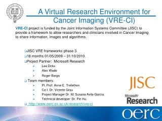 A Virtual Research Environment for Cancer Imaging (VRE-CI)