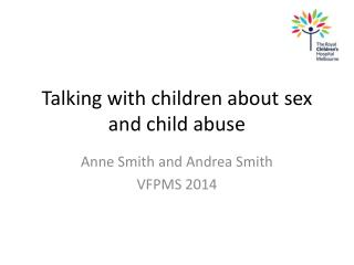 Talking with  children about  sex and child abuse