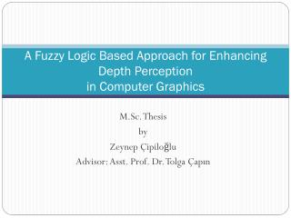 A Fuzzy Logic Based Approach for Enhancing Depth Perception  in Computer Graphics