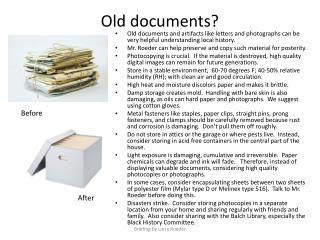 O ld documents?
