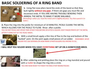 BASIC SOLDERING OF A RING BAND