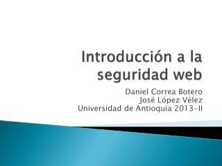 Introducción a la seguridad web