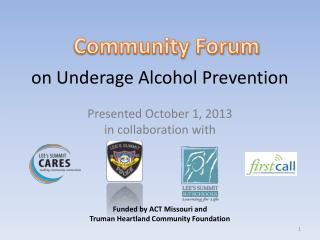 on Underage Alcohol Prevention
