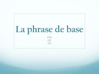 La phrase de base