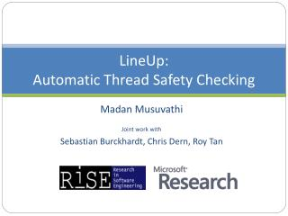 LineUp : Automatic Thread Safety Checking