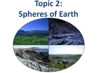 Topic 2: Spheres of Earth