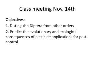Class meeting Nov. 14th