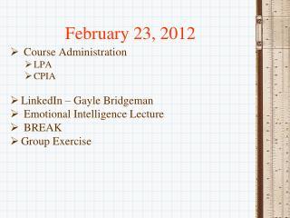 February 23, 2012