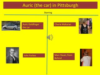 Auric (the car) in Pittsburgh