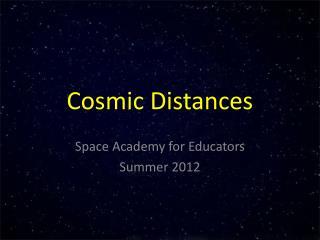 Cosmic Distances