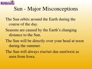 Sun - Major Misconceptions