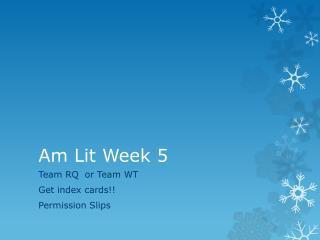 Am Lit Week 5