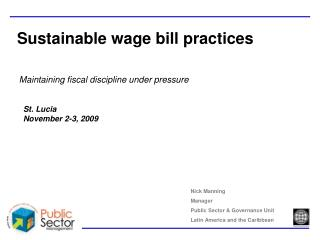 Sustainable wage bill practices