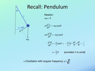 Recall: Pendulum