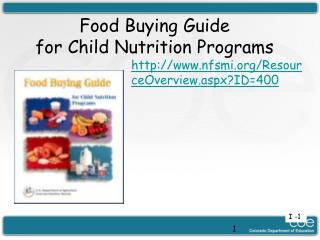 Food Buying Guide for Child Nutrition Programs