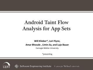 Android Taint Flow Analysis for  App Sets