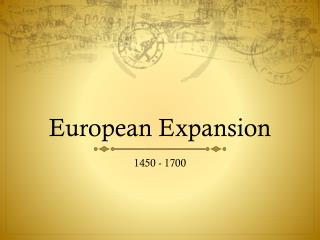 European Expansion