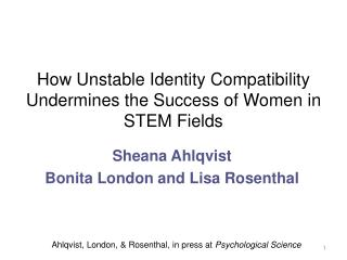 How  Unstable Identity Compatibility Undermines the Success of Women in STEM Fields