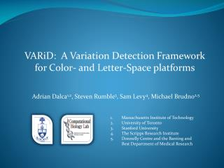 VARiD :  A Variation Detection Framework  for Color- and Letter-Space platforms
