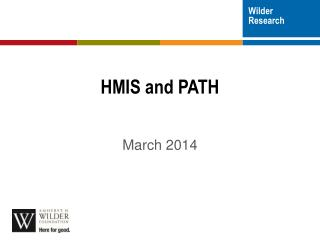 HMIS and PATH