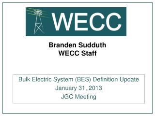 Branden  Sudduth WECC Staff