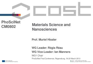Materials Science and  Nanosciences
