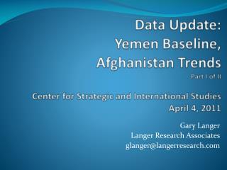 Gary Langer Langer Research Associates glanger@langerresearch.com