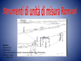 Strumenti di unità di misura Romani