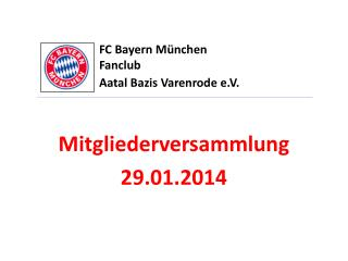 FC Bayern München Fanclub  Aatal Bazis Varenrode  e.V.