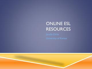 Online ESL Resources