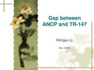 Gap between ANCP and TR-147
