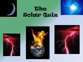 The  Solar Quiz