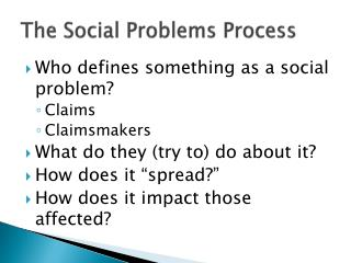 The Social Problems Process