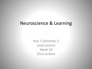 Neuroscience & Learning