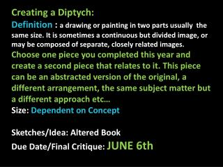 Creating a Diptych: