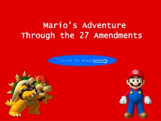 Mario's Adventure Through the 27 Amendments