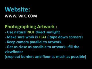 Website:   WWW. WIX. COM