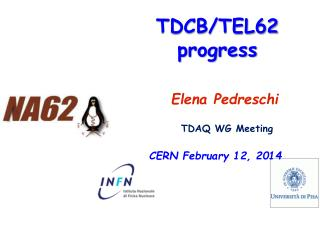 TDCB/TEL62 progress