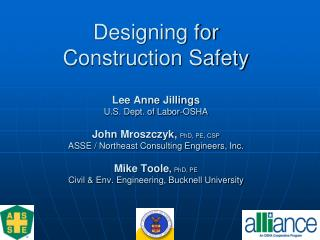 Designing for Construction Safety Lee Anne Jillings