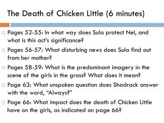 The Death of Chicken  Little (6 minutes)