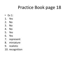 Practice Book page 18