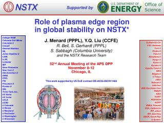 Role of plasma edge region  in global stability on NSTX*