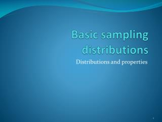 Basic sampling distributions