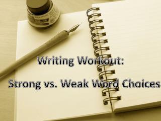 Writing Workout: